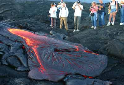 Hawaii Volcano Bike Tour - Active Lava
