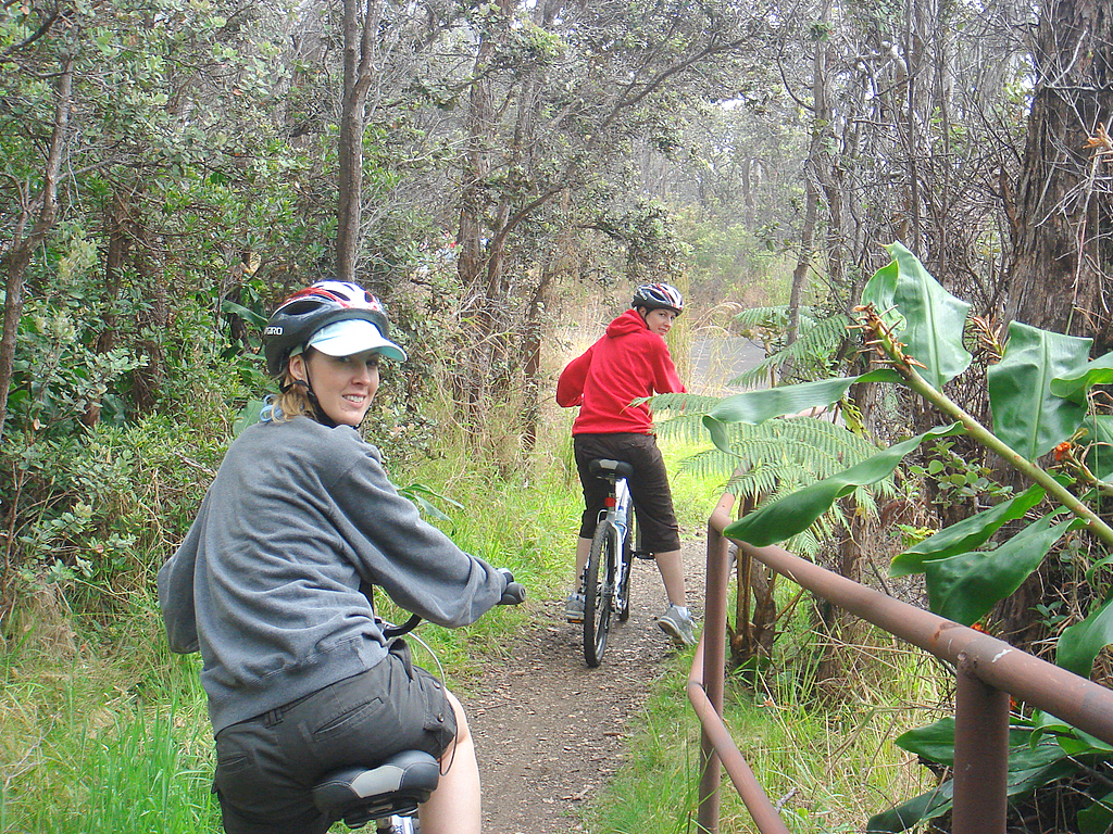 Bike Hawaii Hike Hawaii volcano Bike Tour